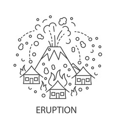Eruption natural disaster vector