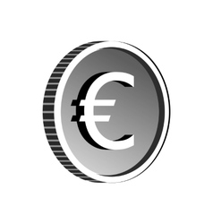 Euro sign icon simple style vector