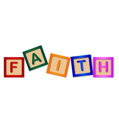 faith blocks vector image