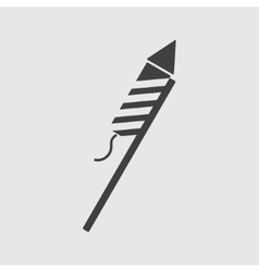 Firework rocket icon vector