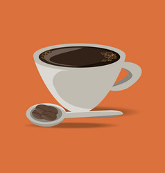 flat cup of coffee drink concept vector image