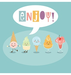 Funny Ice Cream vector