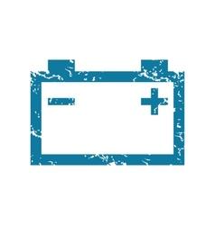 Grunge accumulator icon vector