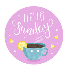 hello sunday vector image