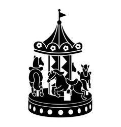Horse carousel icon simple style vector