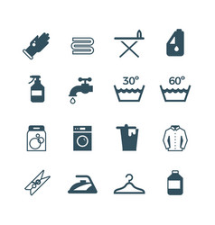 Housework and laundry icon vector