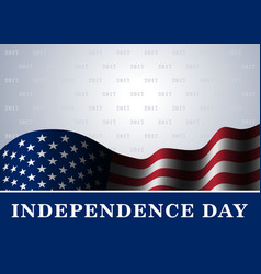 independence day usa background flag vector image