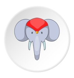 Indian elephant icon cartoon style vector