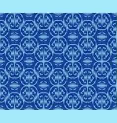 Indigo dyed ikat seamless pattern ethnic vector
