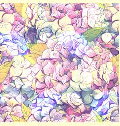 Inflorescence hydrangea randomly arranged in vector
