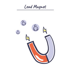 Internet marketing concept lead magnet vector