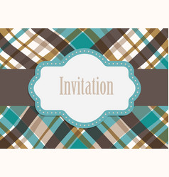 invitation design card vector image