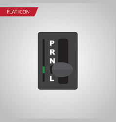 Isolated carrying flat icon automatic vector