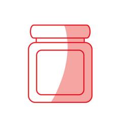 jar pills heartly vector image