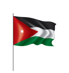 jordan flag on a white vector image