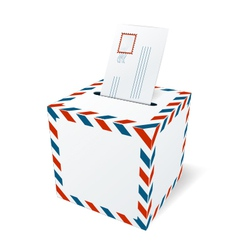Mailbox with a letter vector