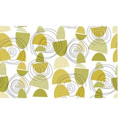Midcentury 50s vibes geometric seamless pattern vector