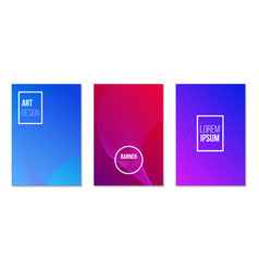 multicolored brochure covers set with gradient vector image