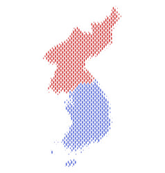 North and south korea map population demographics vector