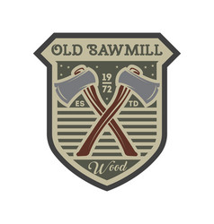 old sawmill vintage isolated label vector image
