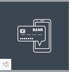online payment line icon vector image