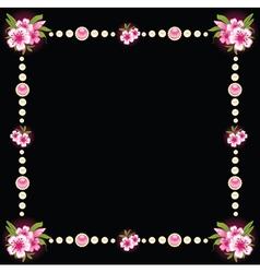 Ornate floral frame background vector image