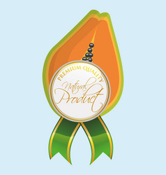 Papaya natural product label quality vector
