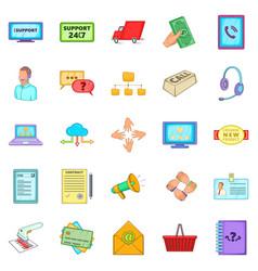 Patron icons set cartoon style vector