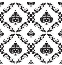 Pattern Spades Ornamental Black and White vector