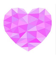pink geometric heart vector image