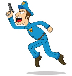 Police officer cartoon vector image