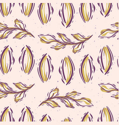 Pretty leaves pattern seamless repeating hand vector