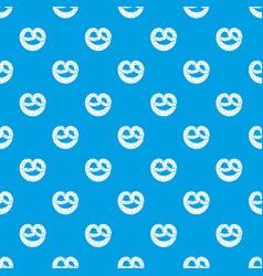 Pretzels pattern seamless blue vector
