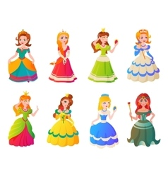 Princess character set vector image