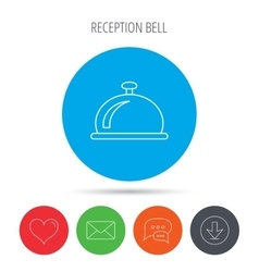 Reception bell icon Hotel service sign vector image