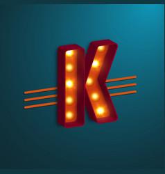 Retro style letter k vector