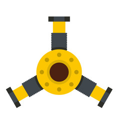 Round mechanic detail icon isolated vector