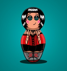 Russian doll rocker vector