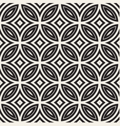 seamless geometric rounded lines pattern vector image