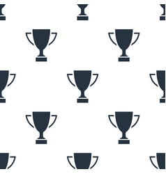 seamless trophy pattern education symbol from vector image
