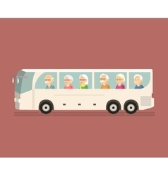 Seniors Travel by Bus vector