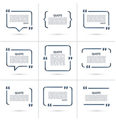 Set of quote templates isolated on white vector image