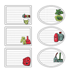 Set of stickers of the concept of household vector