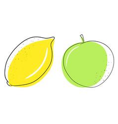 Shape circle fruit apple vector