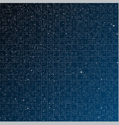Starry night sky Puzzle pieces Part puzzle vector