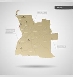 Stylized angola map vector