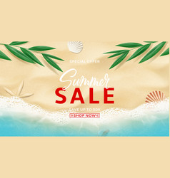 Summer sale banner template vector