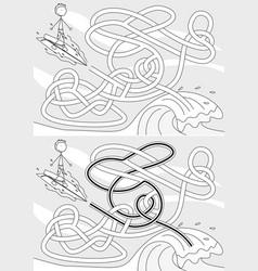 Surfer maze vector