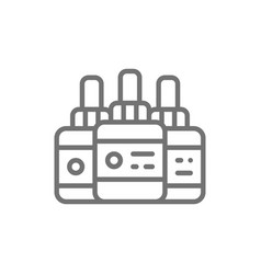 tattoo ink bottles accessory line icon vector image