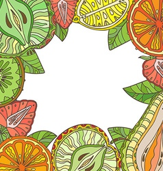 template with different fruits vector image